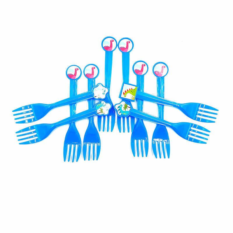 Динозавр вечерние наборы куханной утвари Бумага чашки блюдце став Растяжка с фигурками динозавров День рождения украшения дети мальчик вечерние поставки