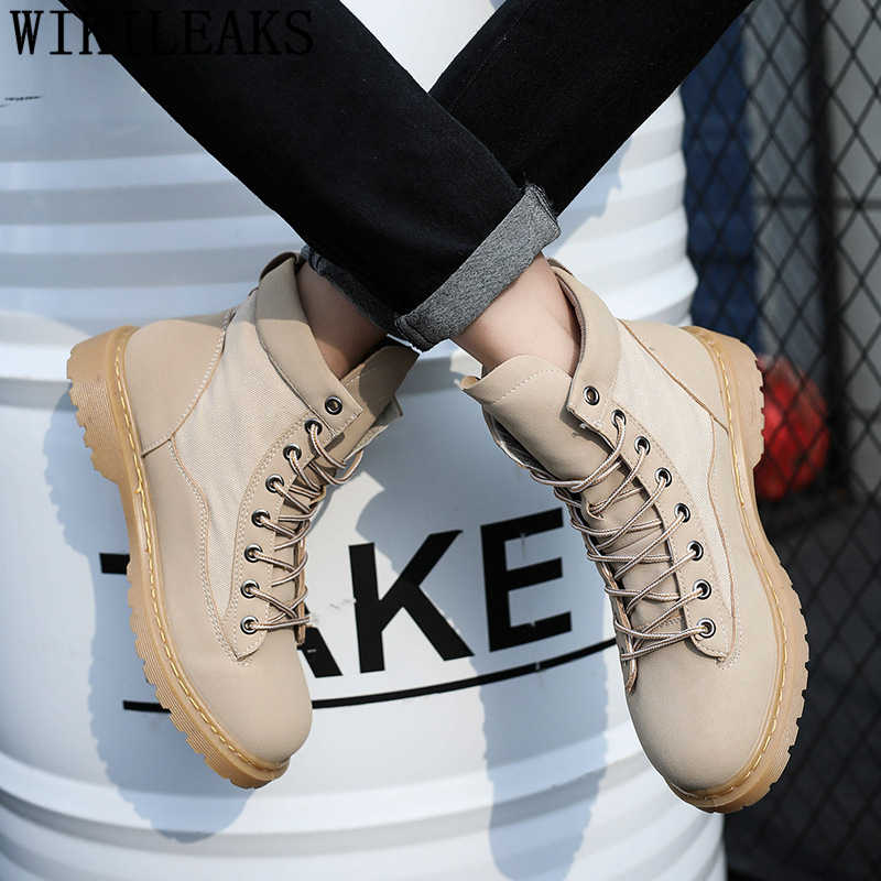 Bottes en cuir hommes militaires bottines hommes chaussures décontractées marque de luxe désert bottes designer chaussures hommes de haute qualité marque chaussures