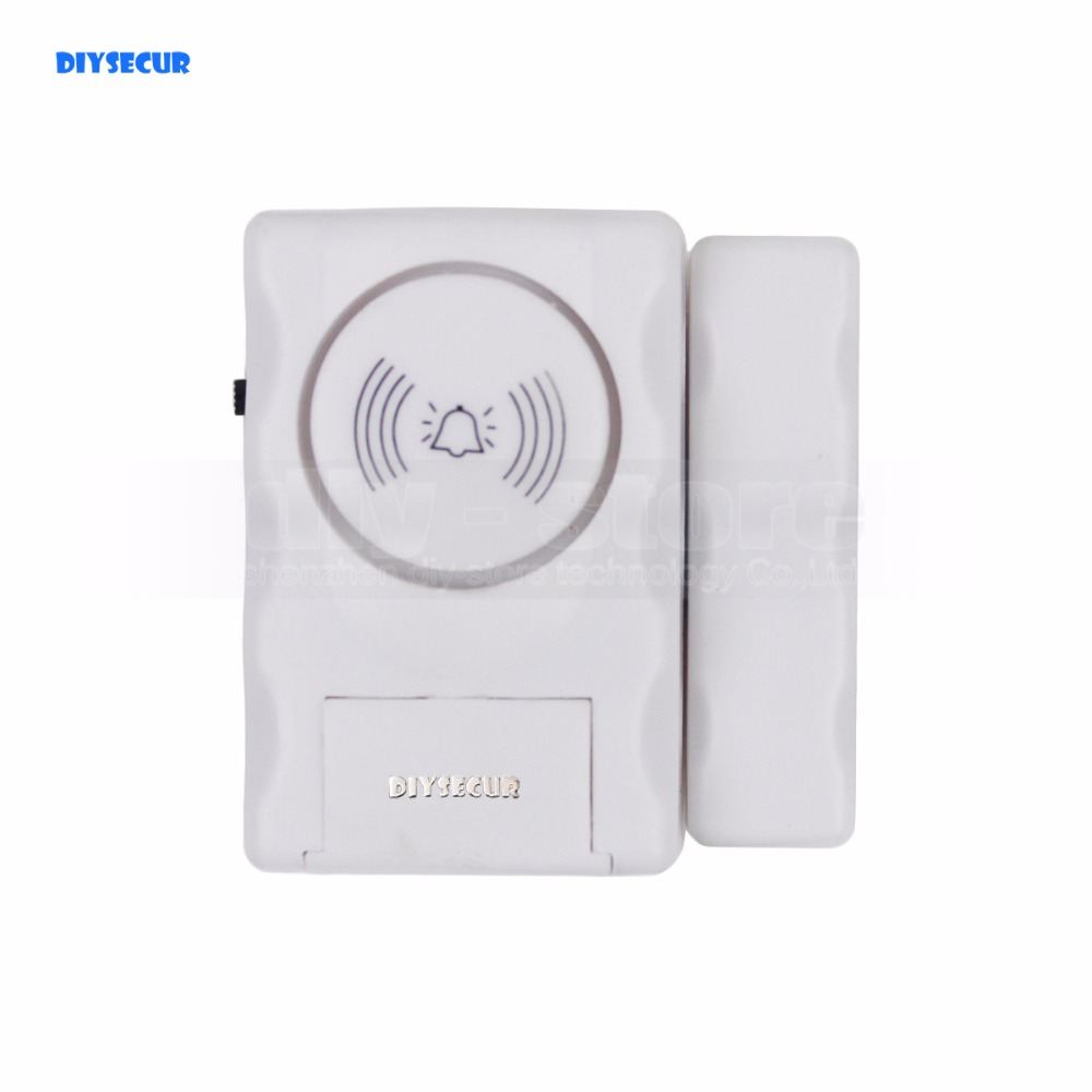 DIYSECUR Window / Door Entry Alarm Warning System Magnetic Sensor Home Security high quality hot sale 100db wireless alarm system burglar safely security window door home magnetic sensor best promotion
