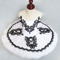 Beautiful Dreamy White Children S Ballet Tutu With Black Decoration Sell Ballet Tutu Dance Tutus Sleeping