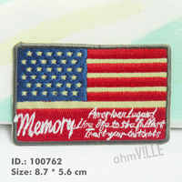 "100762 The American Flag Emblem Iron-On Patches ""Easy To Apply, Just Iron-On"" Guaranteed 100% Quality Embroidered +Free Shipping"