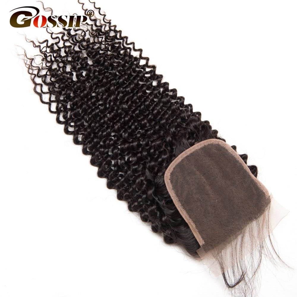 Gossip Hair Brazilian Remy Hair Weave Bundles Afro Kinky Curly Hair - Mänskligt hår (svart) - Foto 4