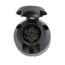 12 V 7 Pin z tworzywa sztucznego europejskiej gniazdo przyczepy hak holowniczy elektryka złącze 7 sposób rdzeń słup wtyczka z tworzywa sztucznego adapter akcesoria samochodowe