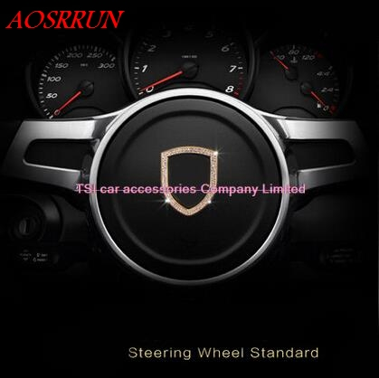 Steering wheel decorative sequins modified car decoration 3D sticker for Porsche macan S turbo cayenne Panamera S 911 Boxste