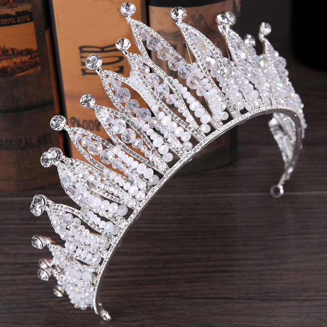 Online shop 2017 dubai stylish fashion crystal crown wedding image junglespirit Choice Image