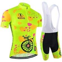 2017 New Fluorescence Women Cycling Jerseys Bicycle Short Sleeve Road Bike Clothing Roupas De Ciclismo Equipacion Bxio Brand 125