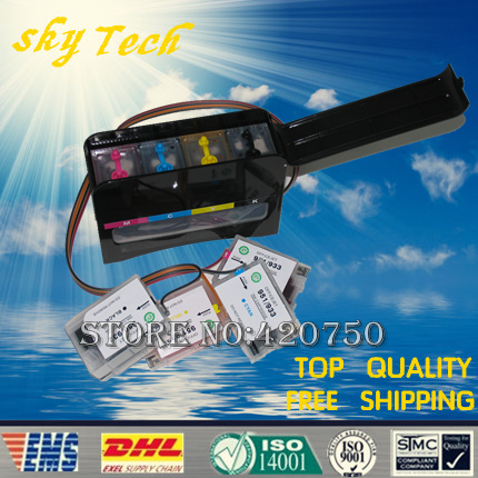 Full Dye Ink CISS suit For hp950 HP951, Suit for HP officejet 8600, with specialized Dye based high speed ink,With ARC chip new bulk ciss for hp950 951 ciss system for hp 8600 printers