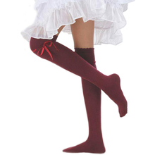 2015 New Style  Fashion Women Cute Girl Autumn Over The Knee Socks Thigh High Stocking  Retail/Wholesale