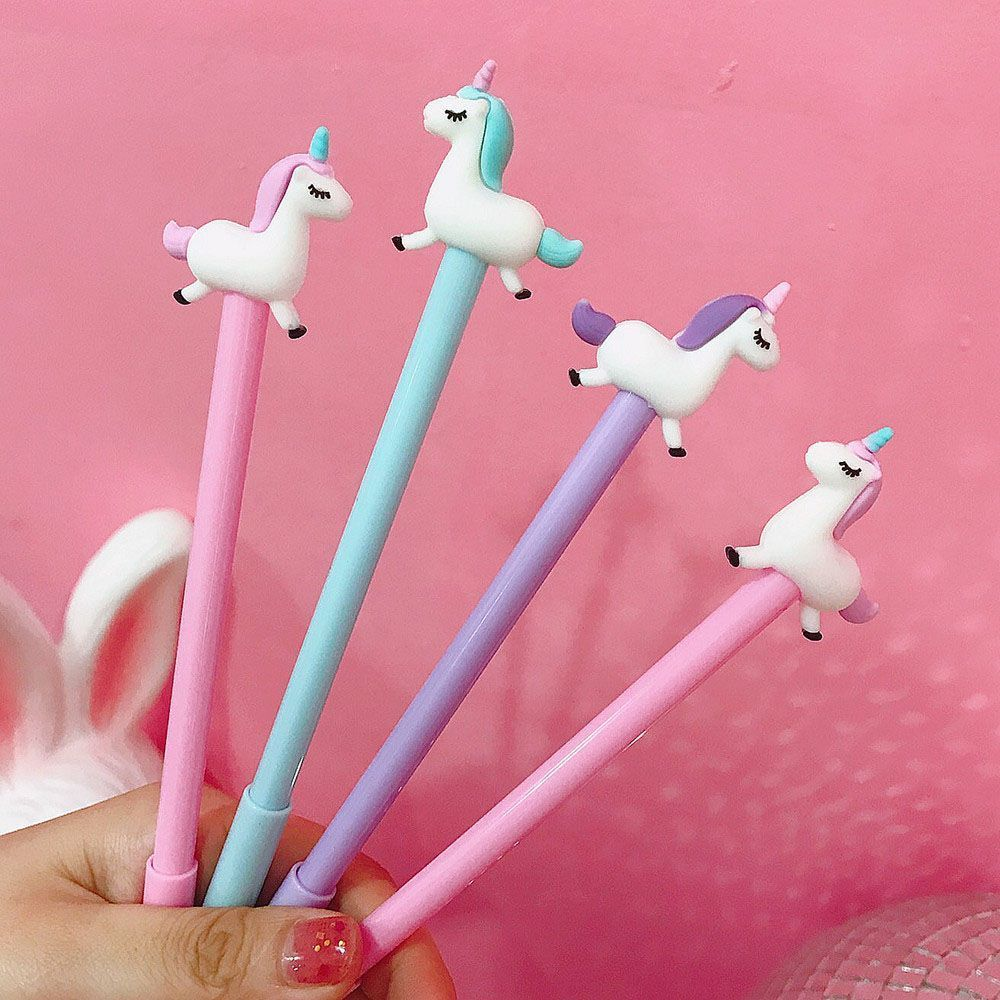1Pc Gel Pen Unicorn Pen Stationery Kawaii School Supplies Gel Ink Pen School Stationery Office Suppliers Pen Student Gifts Award 3pcs 0 38mm gel pen cartoon black ink pen my melody kawaii student kids girl stationery office learning writing supplies