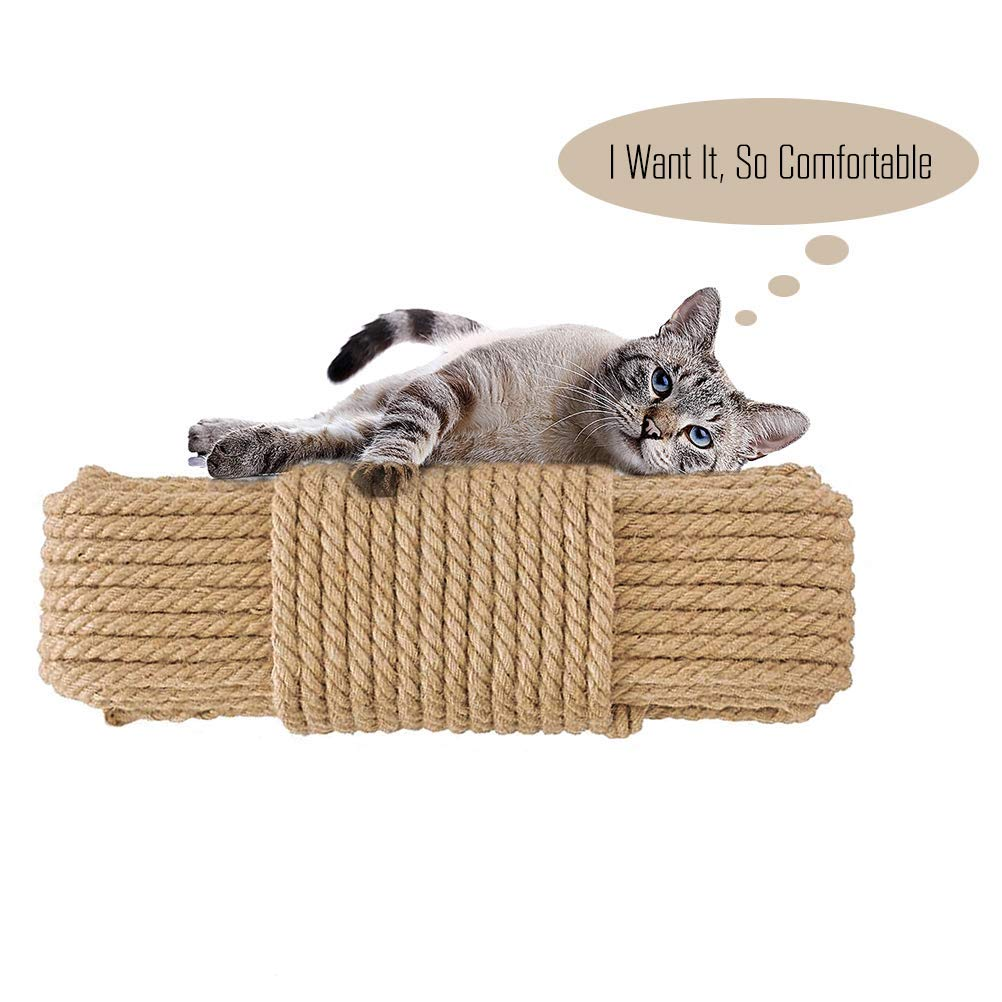 Replacement Cat Scratching Post Sisal Rope For Cat Tree And Tower  DIY Desk Foot Stool Chair Legs Binding Rope Material