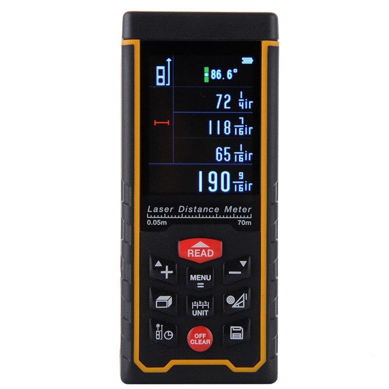 Rechargeable 70m Color Display High precision Digital Laser Rangefinder Distance Meter Trena Laser Tape Measure Diastimeter