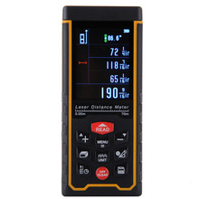Rechargeable 70m Color Display High-precision Digital Laser Rangefinder Distance Meter Trena Laser Tape Measure Diastimeter