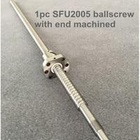 Free shipping SFU2005 / 2010 300 400 500 600 650 700 750 800 900 1000 1200 1500 mm ballscrew BK15/BF15 end machined CNC parts
