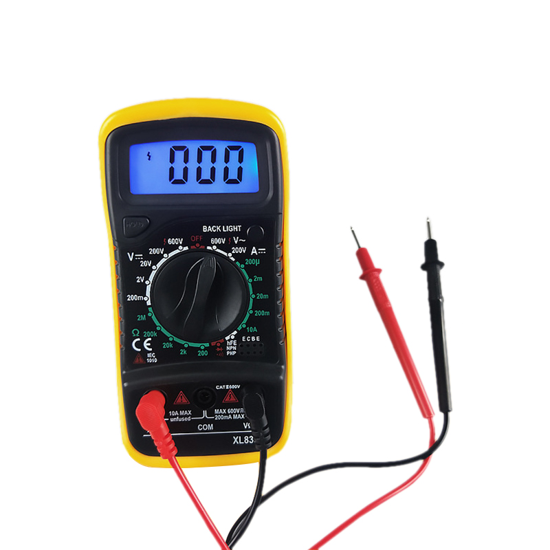 XL830L Digital Multimeter Voltmeter Ammeter Multi Meter AC/DC Voltage Amp Current Resistance Tester Meter Blue Backlight New