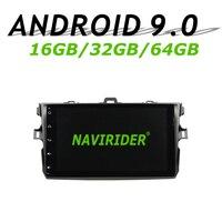 Navirider gps навигации для Toyota COROLLA 2010 9 Полный сенсорный экран автомобиля android 9,0 64 Гб встроенная память радио проигрыватель вluetooth стерео