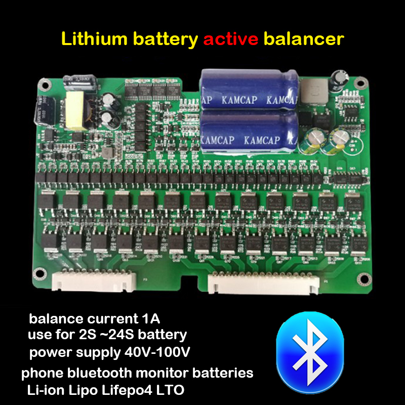 1A Balance Lithium Battery Active Equalizer Bluetooth APP 2S 24S BMS Li ion Lipo Lifepo4 LTO