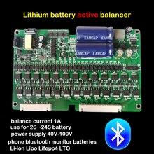 1A bilans bateria litowa aktywny korektor Bluetooth APP 2S ~ 24S BMS Li ion Lipo Lifepo4 LTO Balancer JK nie płyta ochronna