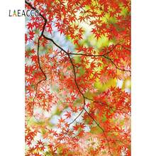 Laeacco Autumn Tree Leaves Maples Forest Pattern Scenic Photography Background Photo Backdrops Photocall Studio