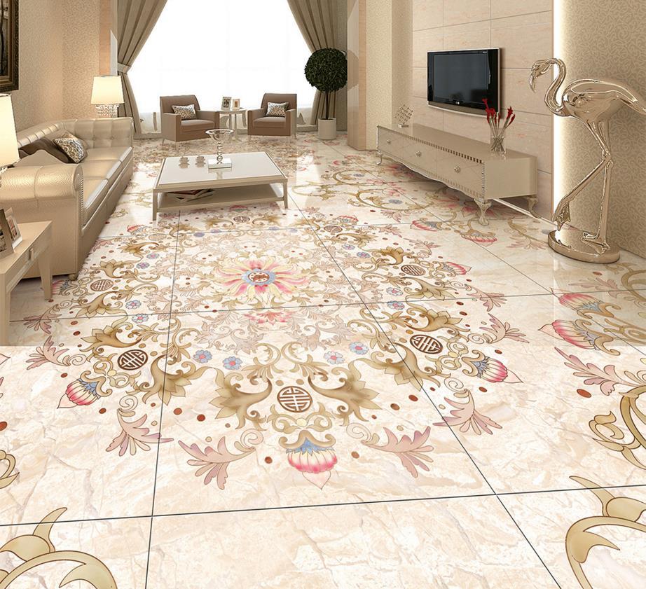 Marble Mosaic Floor Tile flowers marble mosaic rug floor tiles 3d Flooring Custom Wallpaper High End Luxury Marble Mosaic 3d Floor Tiles Pvc Self