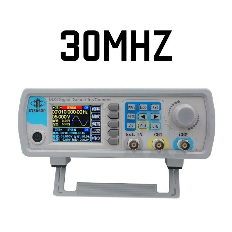 5 pièces par dhl/fedex JDS6600 2 canaux DDS fonction arbitraire 30 MHZ générateur de signal générateur de fréquence de forme d'onde sinusoïdale 40% off
