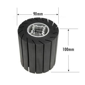 Image 5 - 90*100*19mm גומי תוף ליטוש גלגל רולר + M14 חשמלי מטחנות מתאם + מלטש להקות