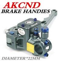 AKCND 19MM Motorcycle Brake Clutch Master Cylinder Hydraulic Pump handle for yamaha nmax bws smax aerox R6 r1 Fz6 Gsxr600 z800