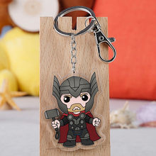 Movie Avengers Endgame Superhero Thor Ragnarok Loki Cartoon Car Keychain Holder Best Friend Graduation Chirstmas Day Gift(China)