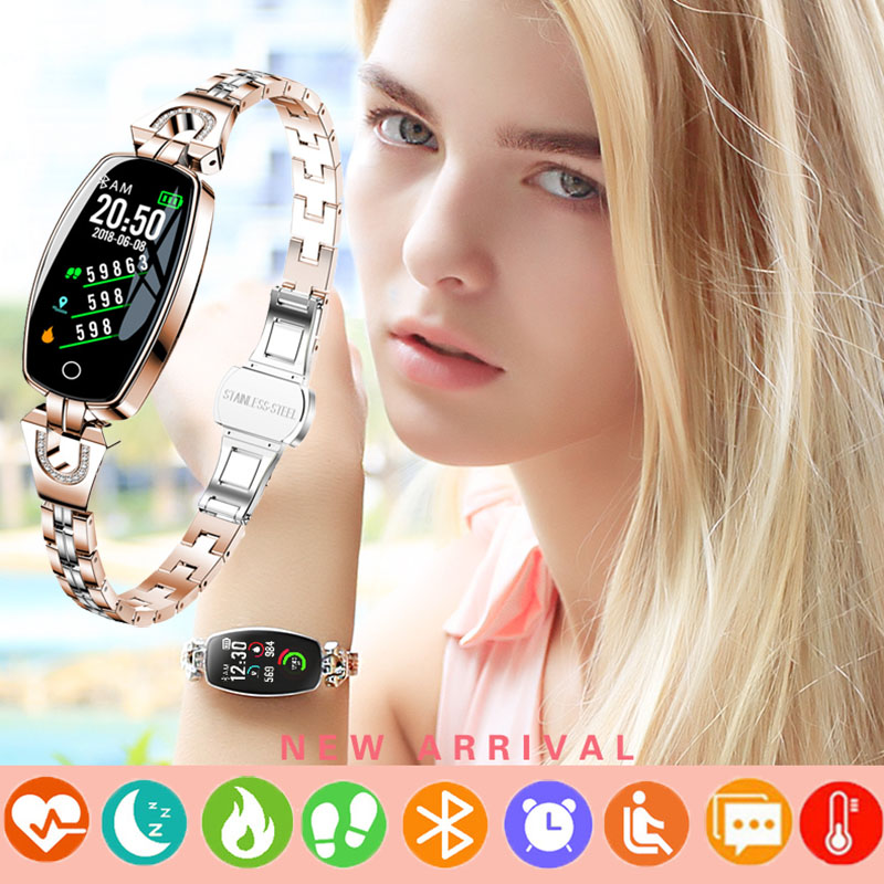 Bracelet montre intelligente femmes montres intelligentes numérique inteligente pour Android IOS fréquence cardiaque moniteur de pression artérielle cadeau pour femme nouveau