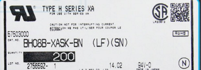 BH08B-XASK-BN Connectors terminals housings 100% new and Original parts BH07B-XASK-BN (LF)(SN)