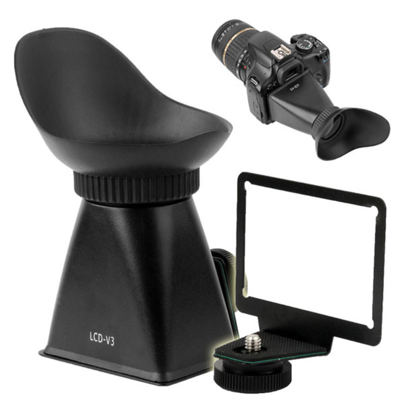 V3 2.8X lupa magnético Capucha extender Visor Lcd Para Canon 600D T3i
