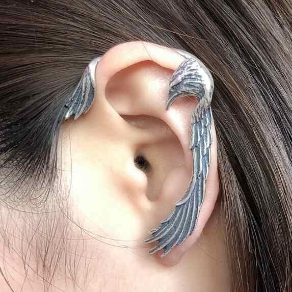 Dangle Bird Earrings Silver Bird Earrings Handmade Bird Earrings Silver Wire Bird on a Branch Earrings Pierced Silver Bird Earrings