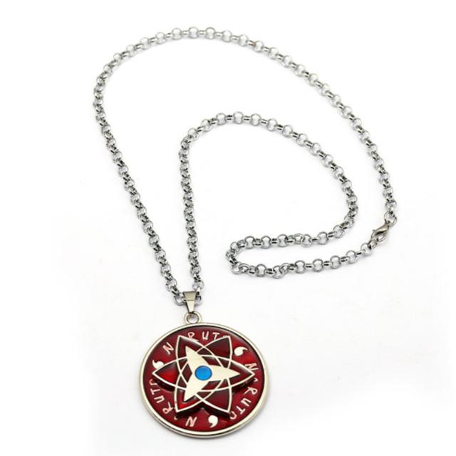 Naruto Sasuke Eternal Mangekyou Sharingan Necklace