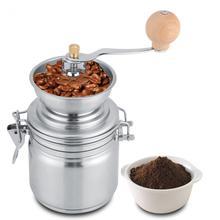 Kahve Değirmeni Paslanmaz Çelik Manuel Baharat Öğütme Değirmeni El Aracı Ev Taşlama Freze Fasulye Miller Ev Araçları