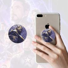 SingFly The Avengers Thanos/ Captain Marvel Round Mobile Phone Holder Anti-Drop Extensible Airbag Stand Bracket Mount for IPhone