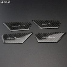 Capa para porta interior de fibra de carbono, 4 unidades, estilo de carro, guarnição para alfa romeo julia stvio acessórios