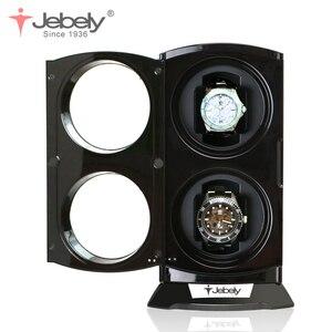 Image 4 - Jebely Nieuwe Collectie Zwarte Dubbele Horloge Winder Voor Automatische Horloges Horloges Doos Sieraden Horloge Display Collector Storage Met Led