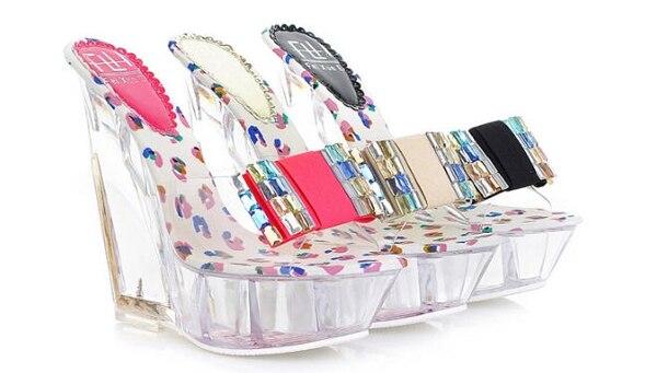 موديلات احذية ستاتي الوان شفاف