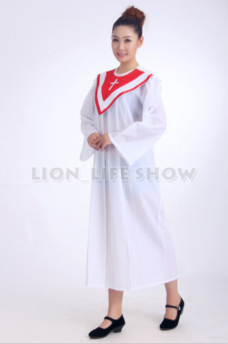 53a31da56f4 Christian Graduation Gown Clergy Choir Judge Robe Nun Priest Church Costume