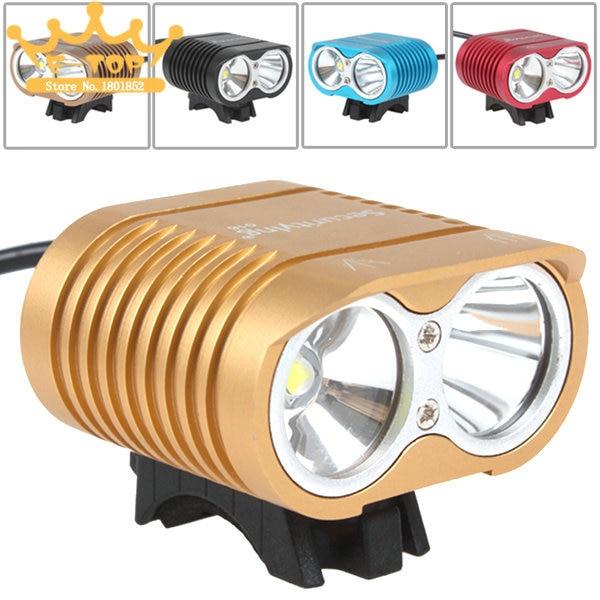 ФОТО 5000Lm  XM-L2 LED Bike Light Bicycle Lamp & Headlight with Long / Short Range + 4000mAh Battery Pack