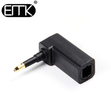 ЭМК 90 градусов разъем toslink цифровой SPDIF оптический аудио кабель адаптер 3.5 мм мини-разъем для MacBook, ТВ коробка, ТВ, DVD, Усилители домашние