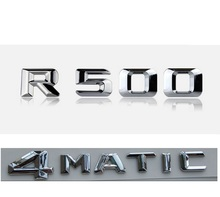 Chrome  R 500 4 MATIC Car Trunk Rear Letters Words Badge Emblem Letter Decal Sticker for Mercedes Benz Class R500 4MATIC