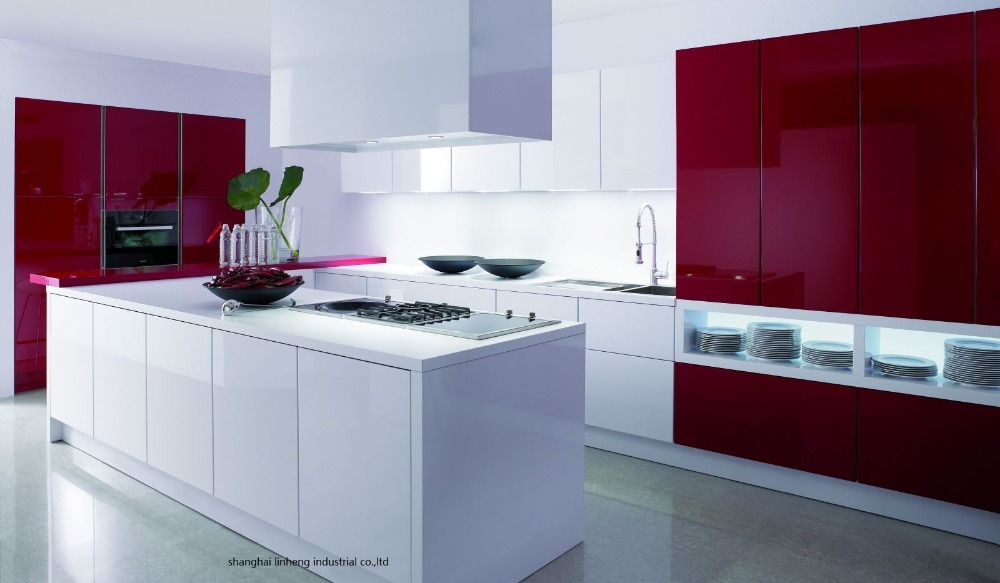High Gloss/lacquer Kitchen Cabinet Mordern(LH-LA100)