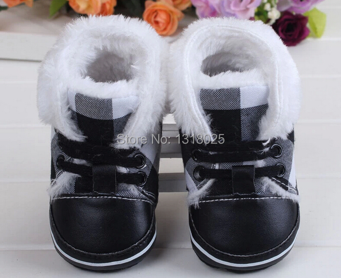 Toddler Shoes Winter Girls Baby Cotton The And Antiskid Soft-Bottom Keep-Warm
