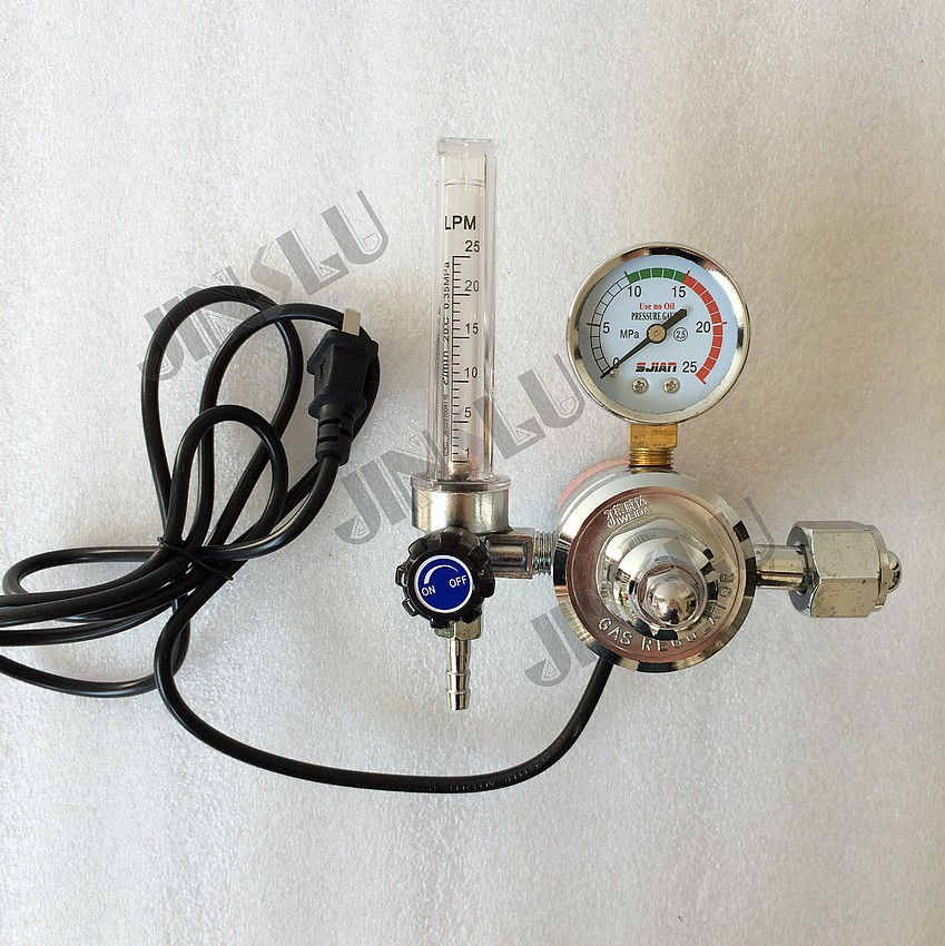 цены Free shipping CO2 Regulator 220V CO2 Gas Heater Gas Pressure Meter MIG welding Regulator