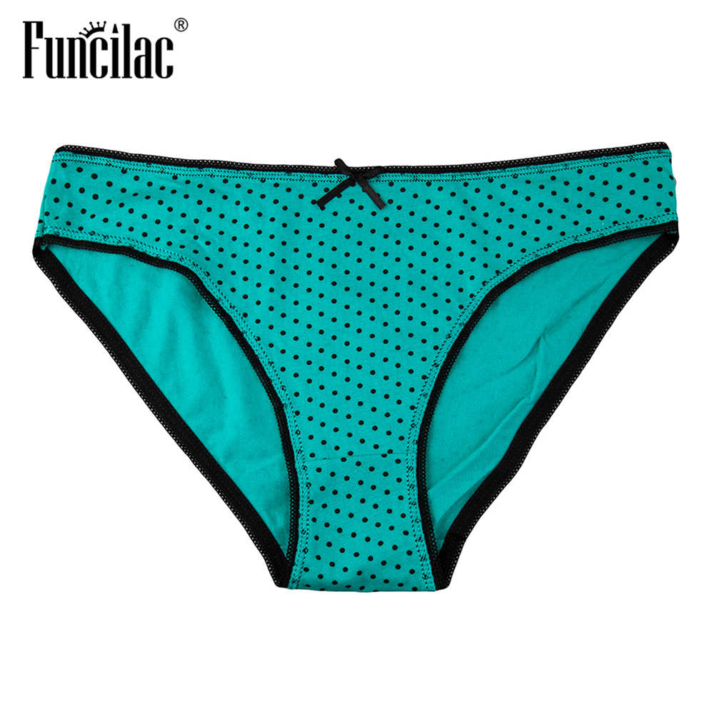 0b827b8f1514 ... FUNCILAC Brand Underwear Women Dot Print Sexy Panties Cotton Ladies Briefs  Knickers For Female Underwear Calcinha ...