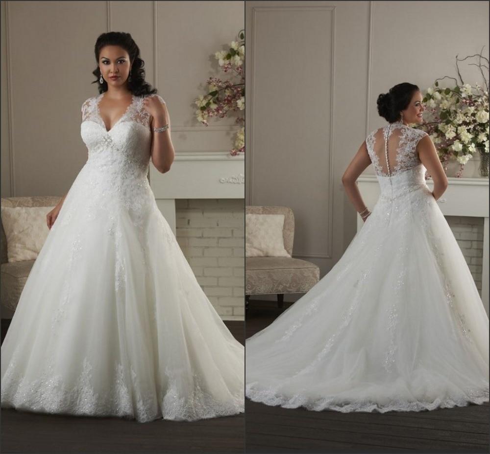Ball gown plus size wedding dresses 2015 organza sexy v for Ball gown plus size wedding dresses