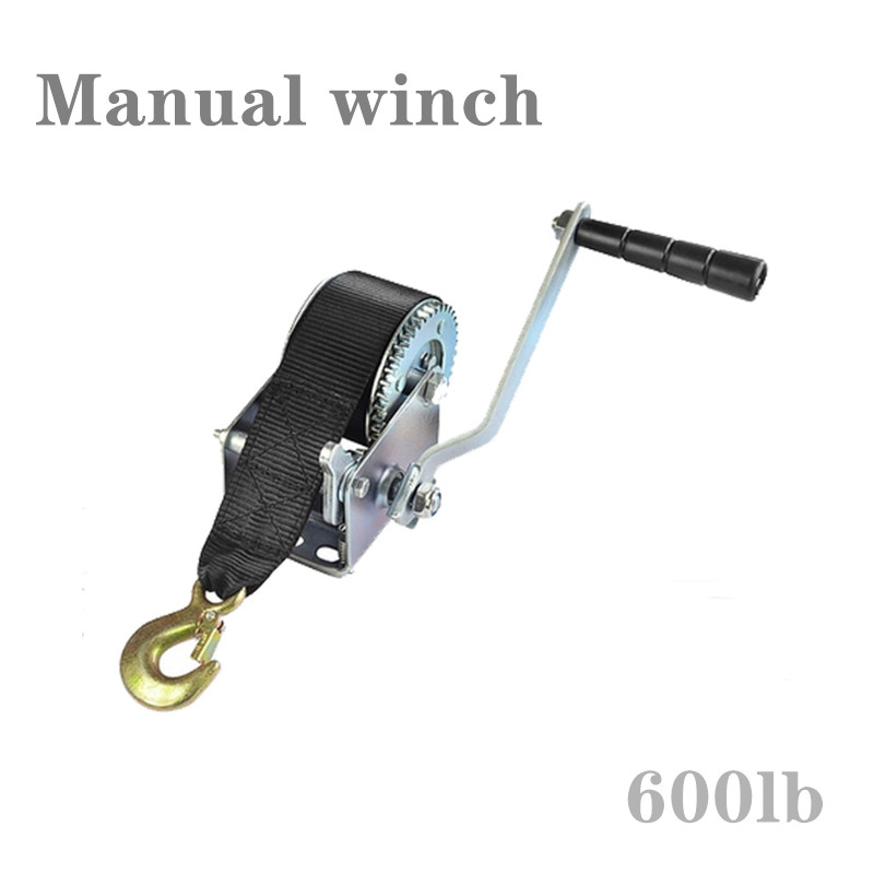 Manual Winch 600-pound Winder With Ribbon Winch