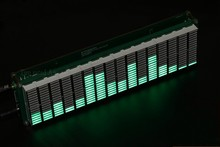Diy ערכות רמת LED מוסיקה אודיו מנתח רמת VU מטר MP3 PC מגבר אודיו מחוון מהירות מתכוונן AGC
