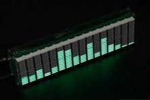 Diy комплект, светодиодный анализатор музыкального спектра, измеритель звука, VU, MP3, ПК, усилитель, аудио индикатор, регулируемая скорость, AGC