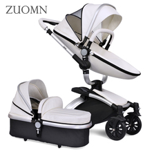 New Baby Strollers 3 In 1 Carriage Prams Folded Baby Kinderwagen Luxury Landscape Carts Stroller High Quality Baby Crib GH353